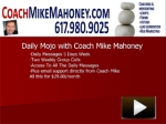 Coach Mike Mahoney